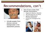 recommendations con t1