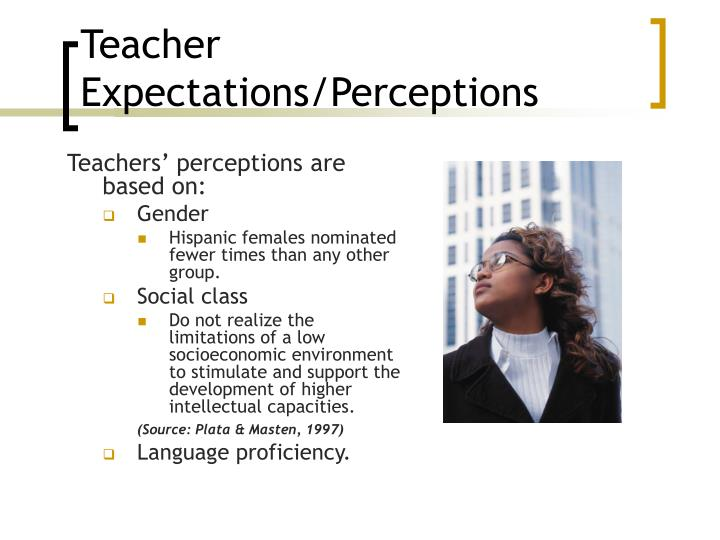 Teacher Expectations/Perceptions