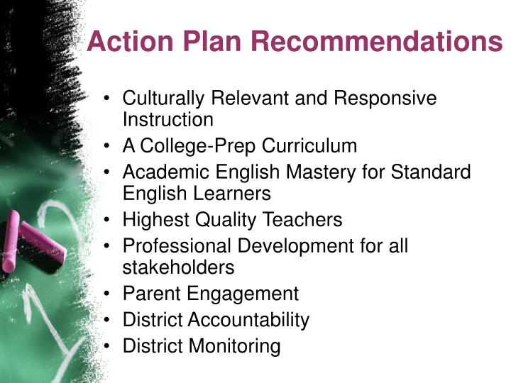 Action Plan Recommendations