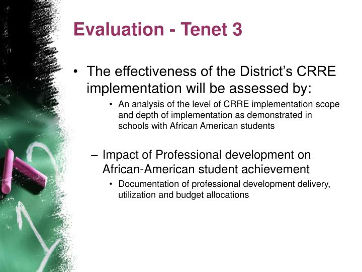 Evaluation - Tenet 3