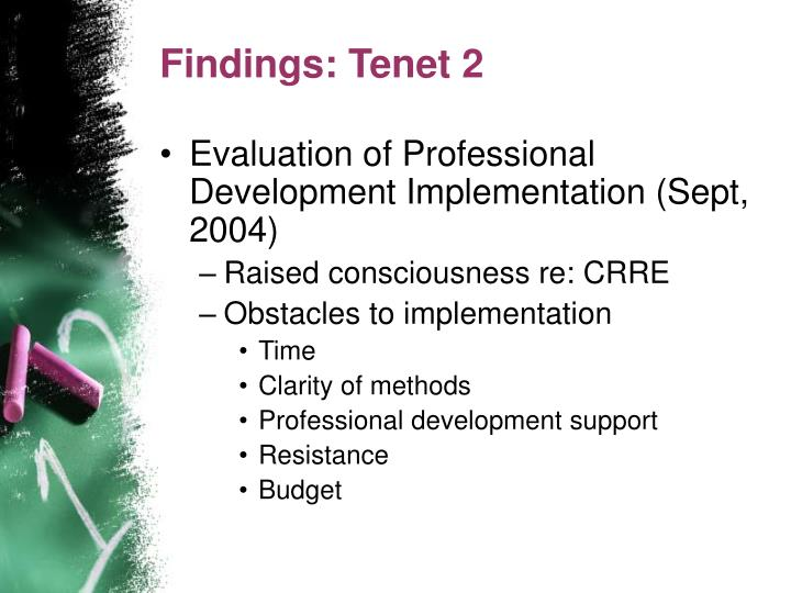 Findings: Tenet 2