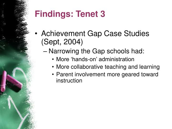 Findings: Tenet 3
