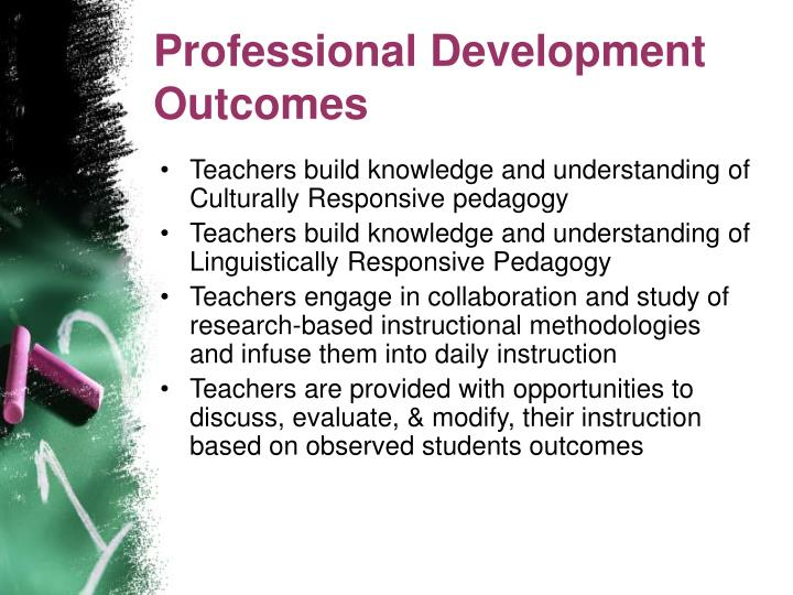 Professional Development Outcomes