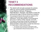 tenet 5 recommendations