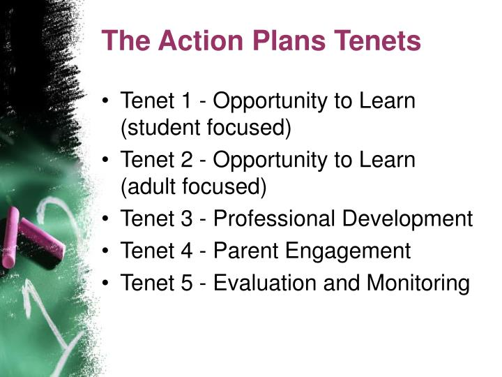 The Action Plans Tenets