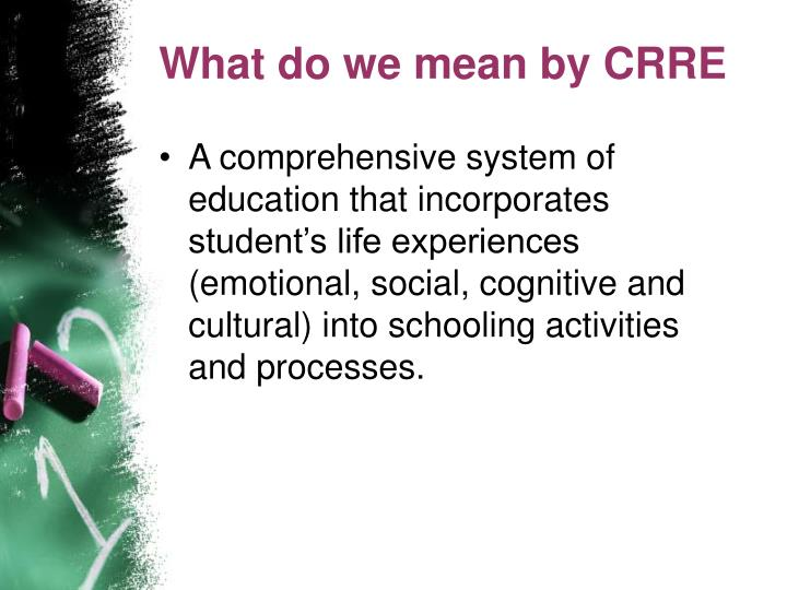 What do we mean by CRRE