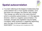 spatial autocorrelation2