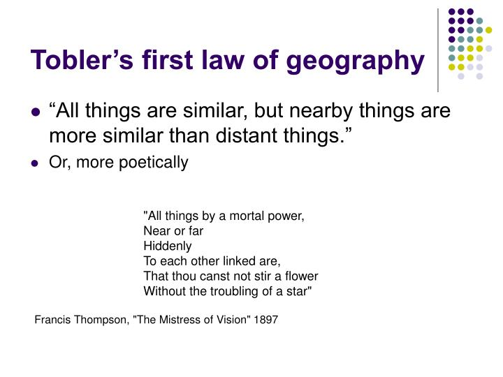 Tobler's first law of geography