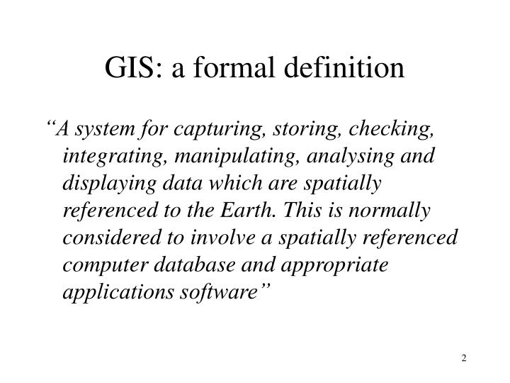 GIS: a formal definition