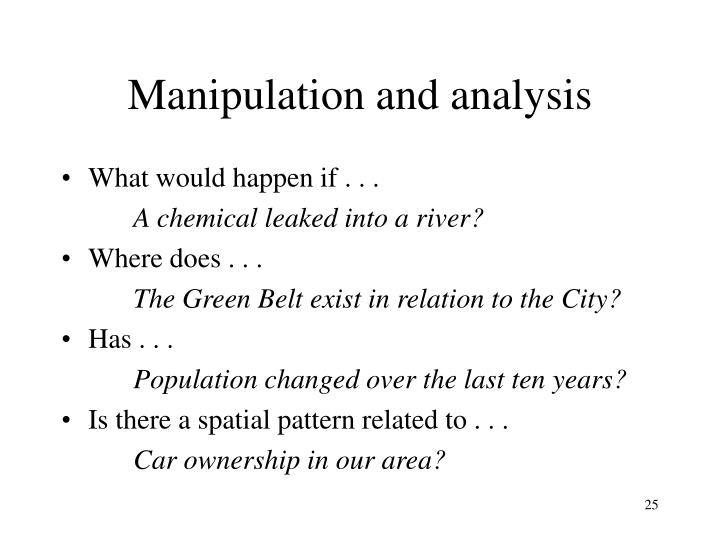 Manipulation and analysis