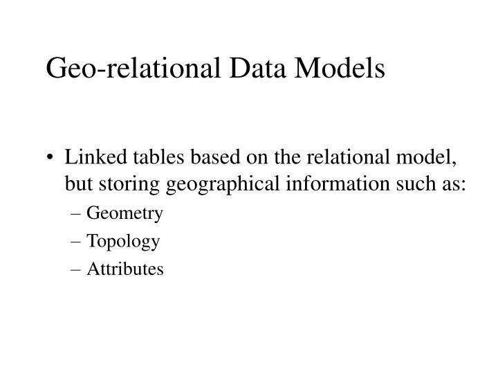 Geo-relational Data Models