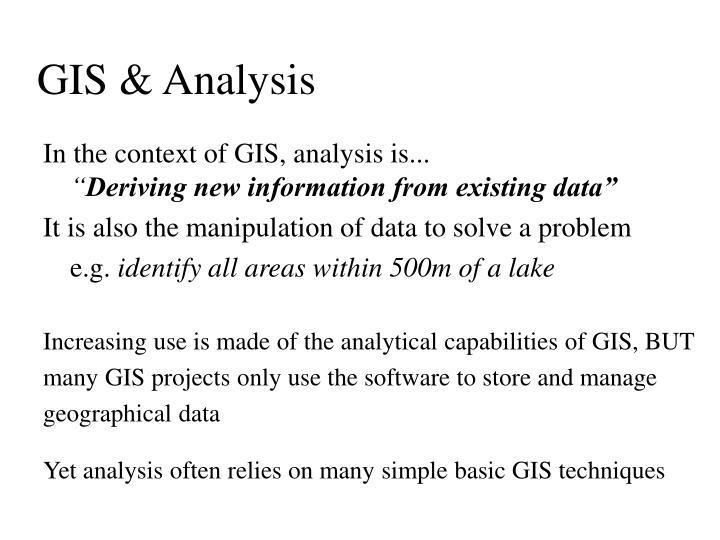 GIS & Analysis