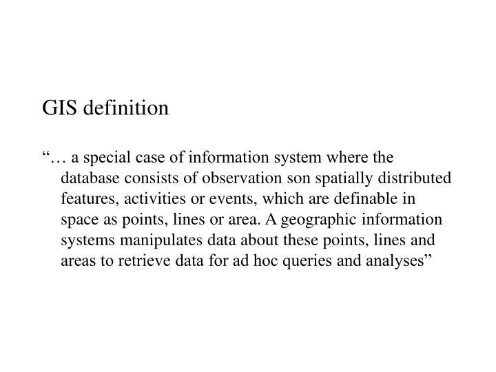 GIS definition