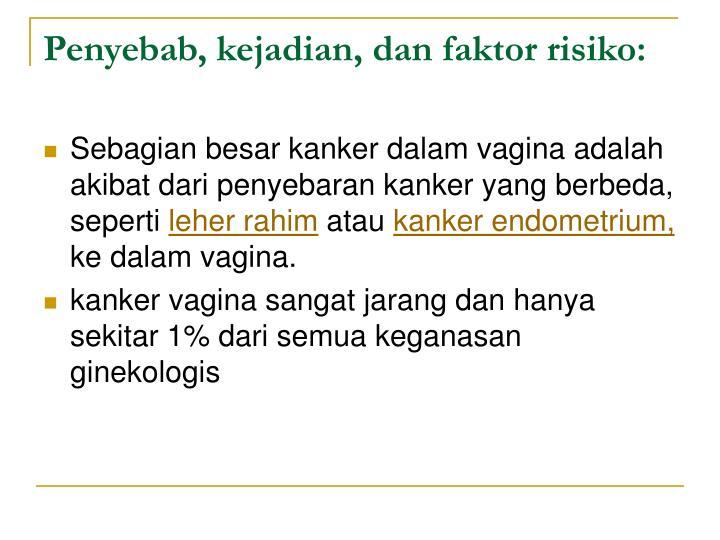Penyebab, kejadian, dan faktor risiko: