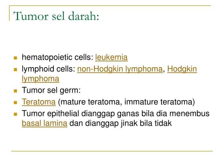 Tumor sel darah: