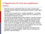 3 organization for task accomplishment cont