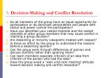 5 decision making and conflict resolution