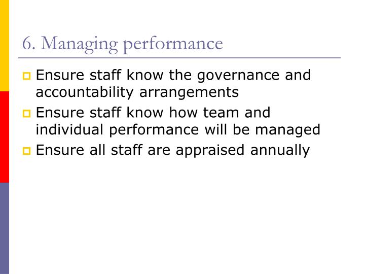 6. Managing performance