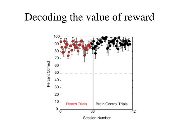 Decoding the value of reward