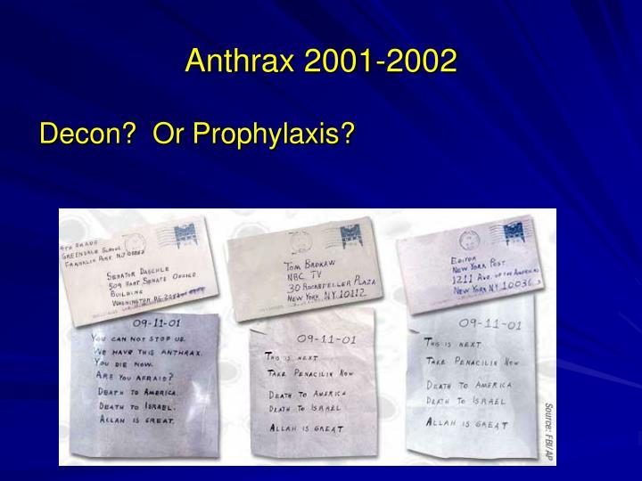 Anthrax 2001-2002