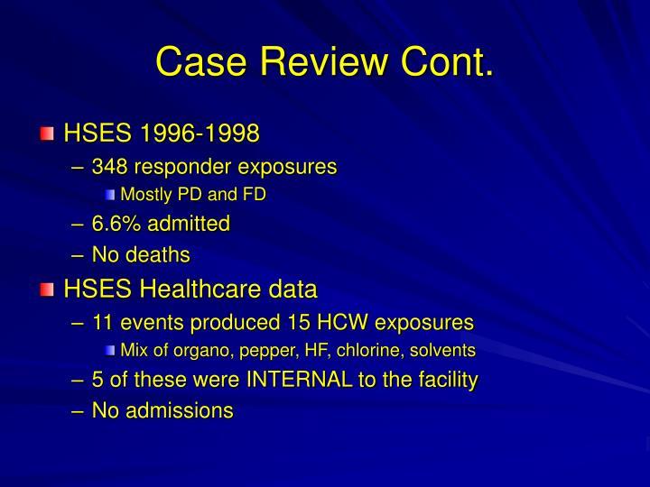 Case Review Cont.