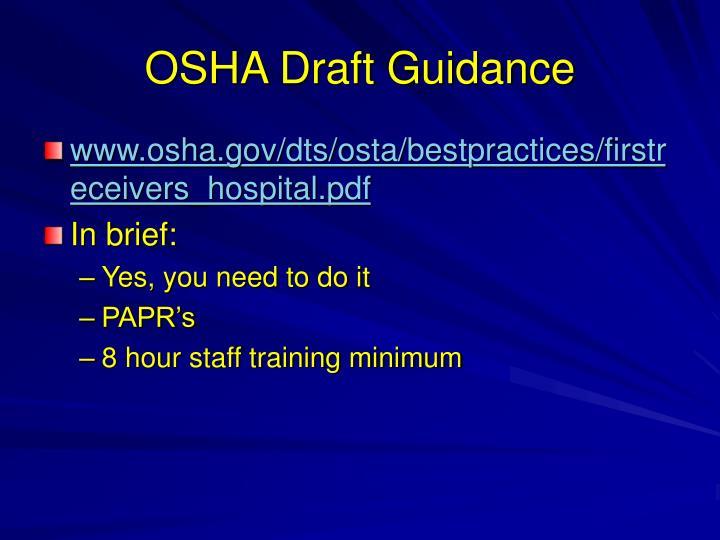 OSHA Draft Guidance