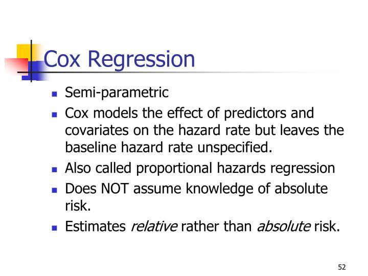 Cox Regression