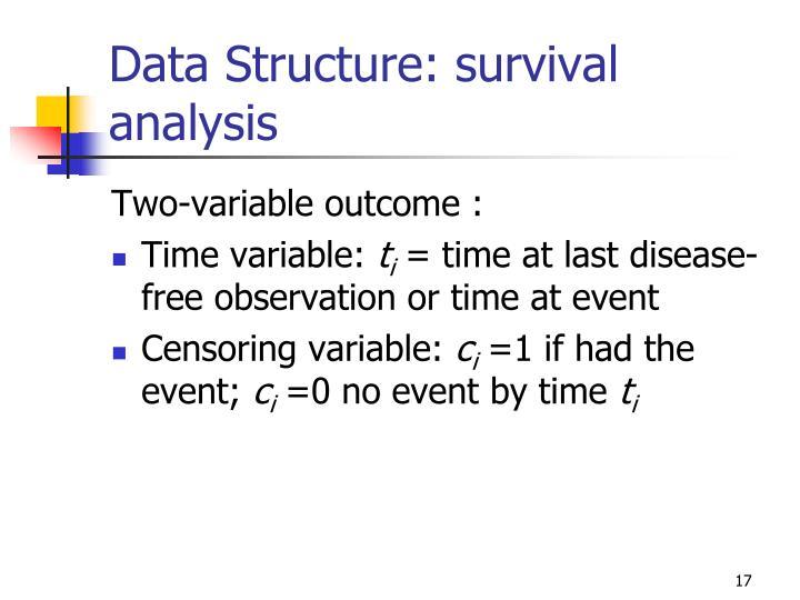 Data Structure: survival analysis