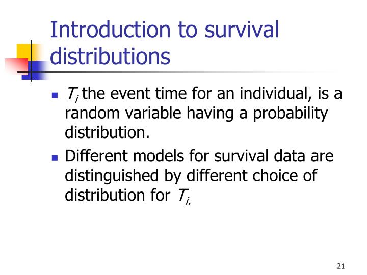 Introduction to survival distributions