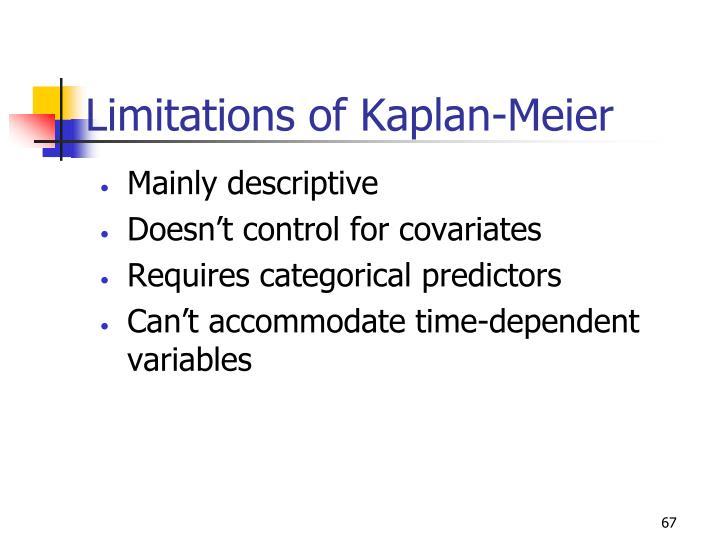 Limitations of Kaplan-Meier