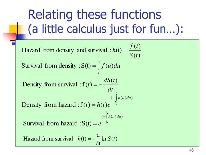 Relating these functions