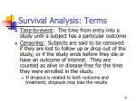 survival analysis terms