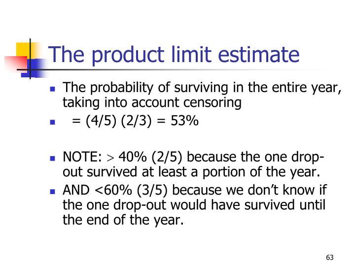 The product limit estimate
