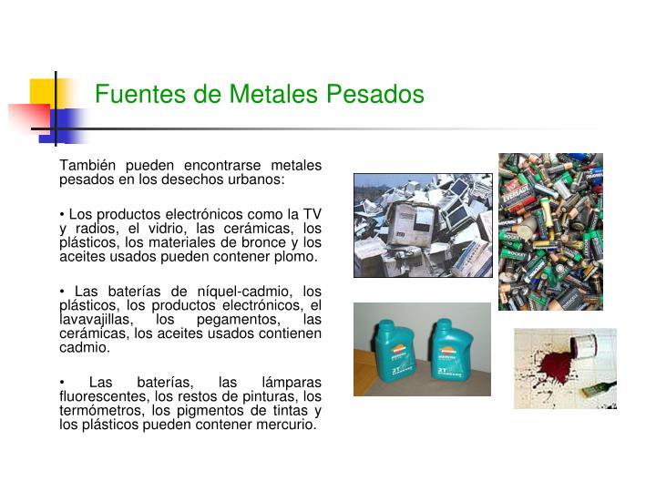 Fuentes de Metales Pesados