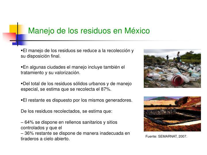 Manejo de los residuos en México