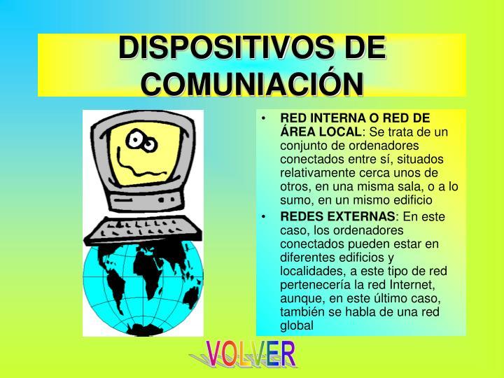 DISPOSITIVOS DE COMUNIACIÓN