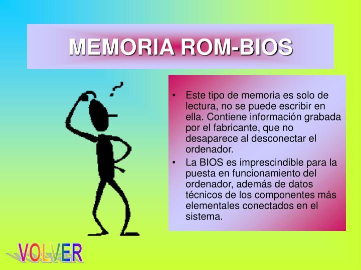 MEMORIA ROM-BIOS