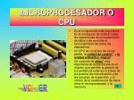microprocesador o cpu