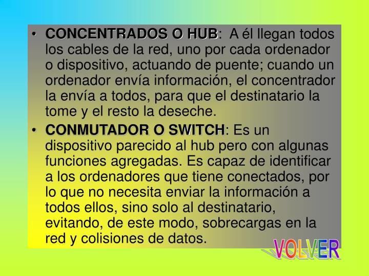 CONCENTRADOS O HUB