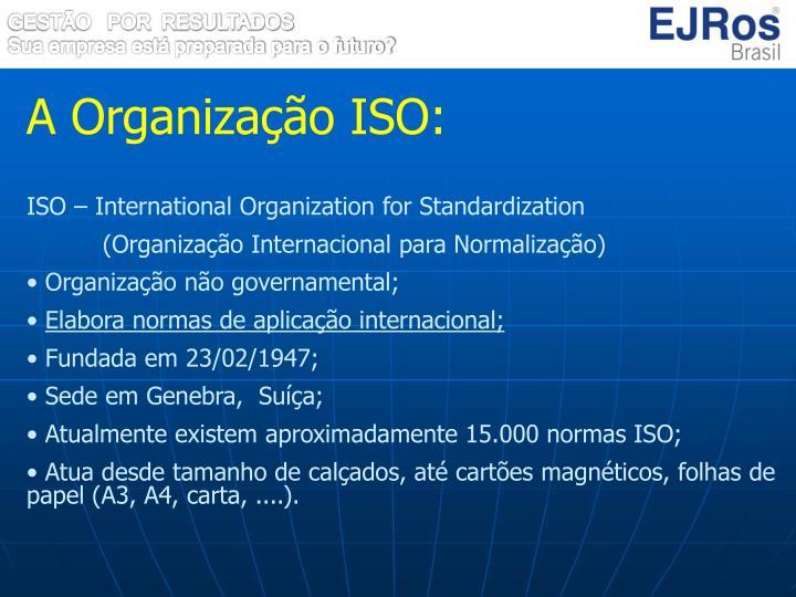 A Organização ISO: