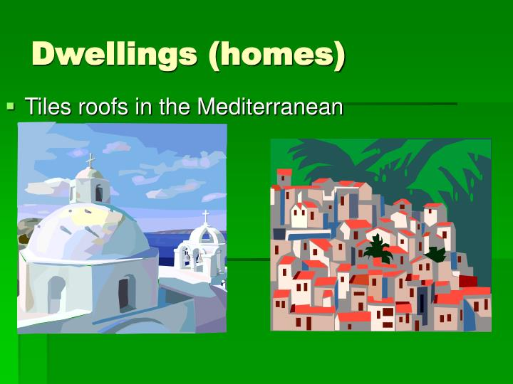Tiles roofs in the Mediterranean