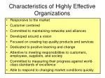 characteristics of highly effective organizations
