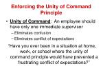 enforcing the unity of command principle