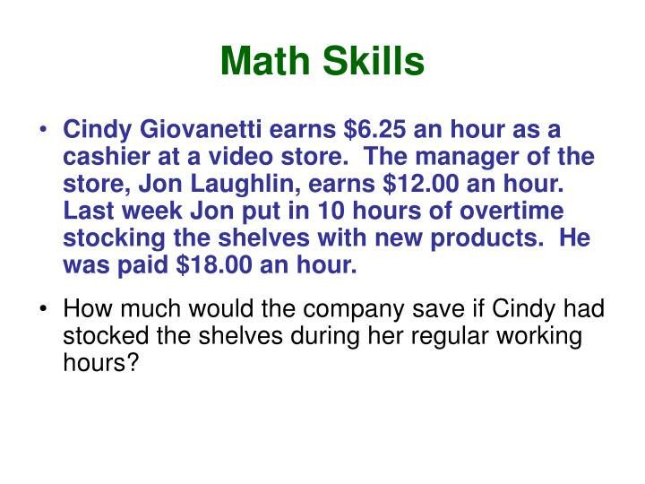 Math Skills