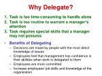 why delegate