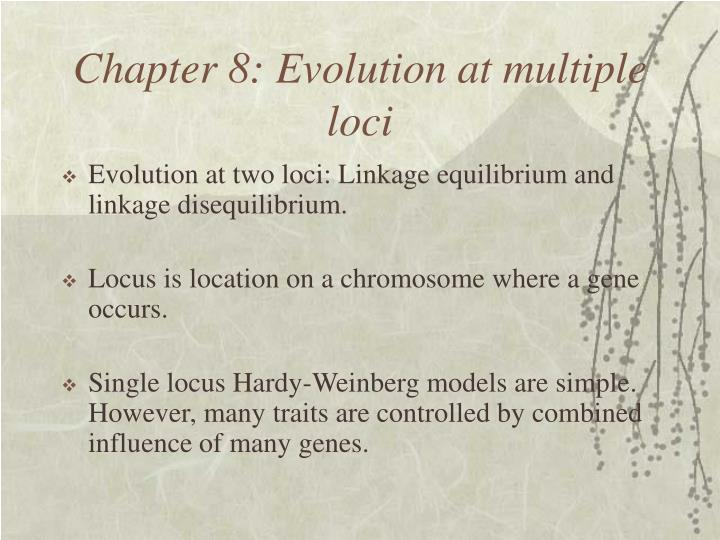 chapter 8 evolution at multiple loci