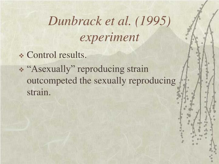 Dunbrack et al. (1995) experiment