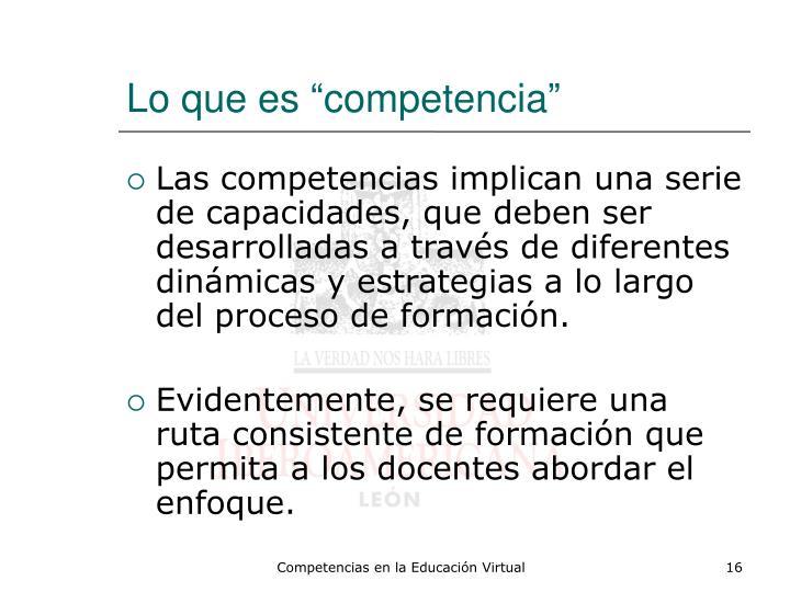 """Lo que es """"competencia"""""""