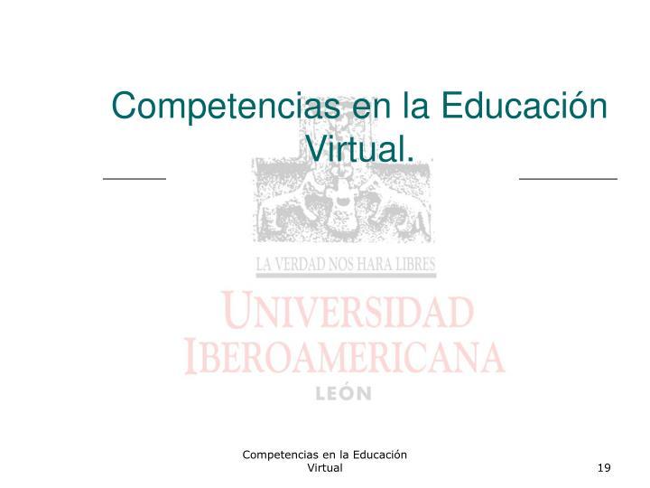 Competencias en la Educación Virtual.