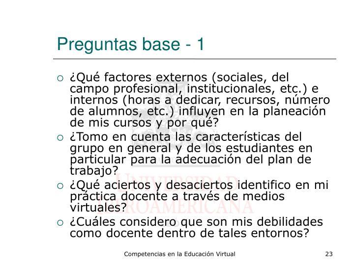 Preguntas base - 1